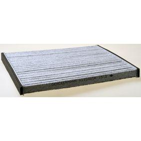 Filter, Innenraumluft Länge: 196mm, Breite: 216mm, Höhe: 17mm mit OEM-Nummer 0897400820
