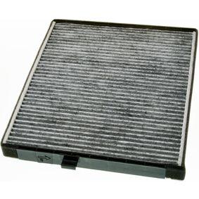 Filtro, aire habitáculo Long.: 240mm, Ancho: 202mm, Altura: 19mm con OEM número EC 96 539 649