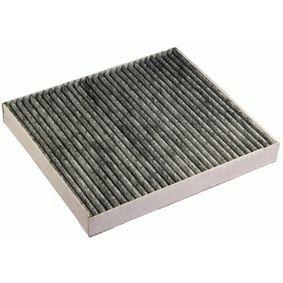 Filter, Innenraumluft Länge: 216mm, Breite: 195mm, Höhe: 25mm mit OEM-Nummer 05 058 693AA