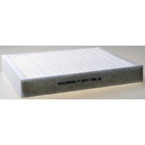 Filter, Innenraumluft Länge: 256mm, Breite: 224mm, Höhe: 36mm mit OEM-Nummer 6R0 819 653