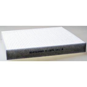 Filter, Innenraumluft Länge: 254mm, Breite: 235mm, Höhe: 32mm mit OEM-Nummer 5Q0819644 A