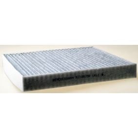 Filter, Innenraumluft Länge: 254mm, Breite: 235mm, Höhe: 32mm mit OEM-Nummer 5Q0819653+