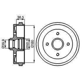 Bremstrommel Br.Tr.Durchmesser außen: 211mm mit OEM-Nummer 171 501615 A