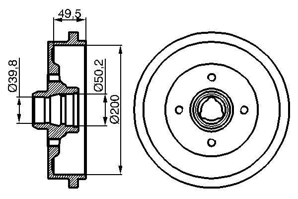 BOSCH  0 986 477 041 Bremstrommel Br.Tr.Durchmesser außen: 239,3mm