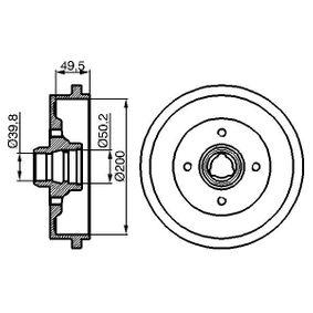 Bremstrommel Br.Tr.Durchmesser außen: 239,3mm mit OEM-Nummer 1H0 501 615 A