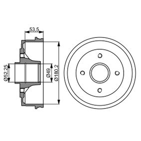Bremstrommel Br.Tr.Durchmesser außen: 207,8mm mit OEM-Nummer 60 01 548 126