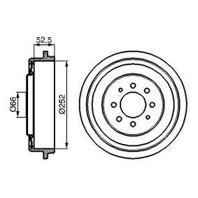 Renault Kangoo KC 1.6 16V bivalent Trommelbremsen BOSCH 0 986 477 067 (1.6 16V bivalent Benzin/Erdgas (CNG) 2006 K4M 850)