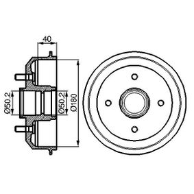 Brake Drum Outer Br. Sh. Diameter: 216mm with OEM Number 4034886