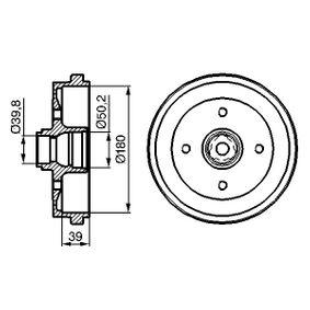 Bremstrommel Br.Tr.Durchmesser außen: 211mm mit OEM-Nummer 191 501 615B