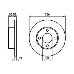 Bremsscheibe Bremsscheibendicke: 12,9mm, Lochanzahl: 4, Ø: 256mm mit OEM-Nummer 895 615 301