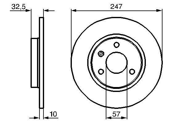 BOSCH  0 986 478 142 Bremsscheibe Bremsscheibendicke: 10,1mm, Lochanzahl: 3, Ø: 246,8mm