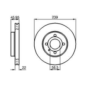 Bremsscheibe Bremsscheibendicke: 22mm, Lochanzahl: 4, Ø: 239,2mm mit OEM-Nummer 60514881