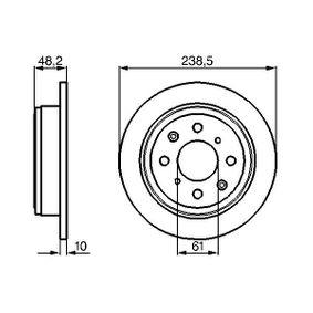 Спирачен диск дебелина на спирачния диск: 10мм, брой на дупките: 4, Ø: 238мм с ОЕМ-номер 42510 SK3 E00