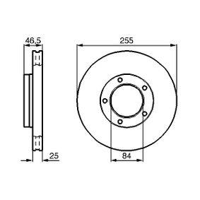 BOSCH  0 986 478 452 Bremsscheibe Bremsscheibendicke: 25mm, Lochanzahl: 5, Ø: 255mm