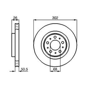 BOSCH  0 986 478 454 Bremsscheibe Bremsscheibendicke: 26mm, Lochanzahl: 5, Ø: 302mm