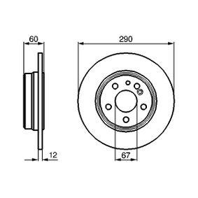 Bremsscheibe Bremsscheibendicke: 11,9mm, Lochanzahl: 5, Ø: 290mm mit OEM-Nummer 140.423.06.12
