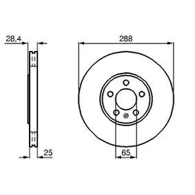 BOSCH  0 986 478 619 Bremsscheibe Bremsscheibendicke: 25mm, Lochanzahl: 5, Ø: 288,5mm