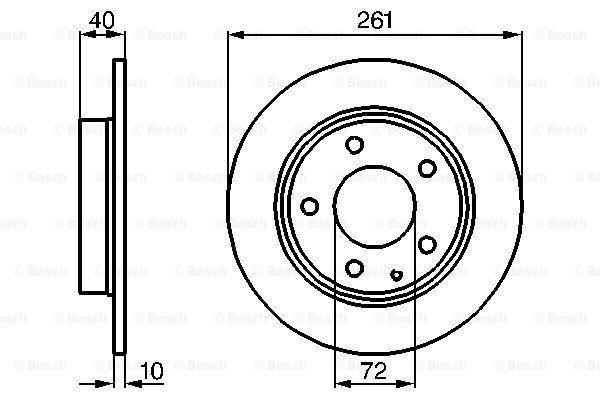 Bremsscheiben 0 986 478 633 BOSCH E190R02C01000495 in Original Qualität