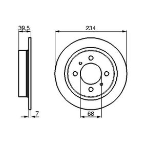 Bremsscheibe Bremsscheibendicke: 7mm, Lochanzahl: 4, Ø: 233,7mm mit OEM-Nummer 43206 58Y02