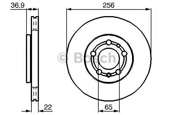 Bremsscheiben 0 986 478 988 BOSCH E190R02C03810243 in Original Qualität