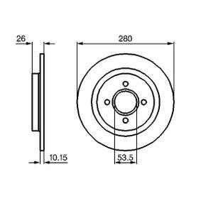 BOSCH  0 986 479 049 Bremsscheibe Bremsscheibendicke: 10,2mm, Lochanzahl: 4, Ø: 281mm