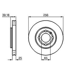 BOSCH  0 986 479 054 Bremsscheibe Bremsscheibendicke: 25mm, Lochanzahl: 4, Ø: 256mm