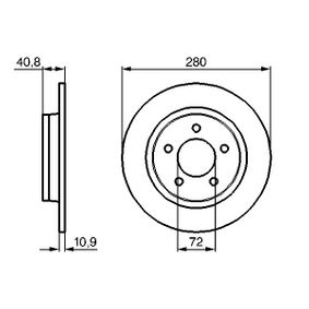 2012 Mazda 3 BL 2.0 (BLEFP) Brake Disc 0 986 479 181