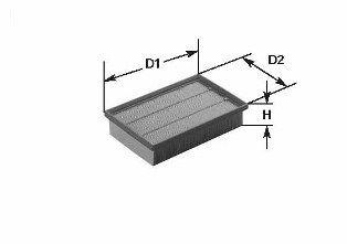 CLEAN FILTER  MA1061 Luftfilter Höhe: 50mm