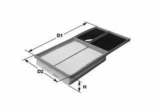 CLEAN FILTER  MA3105 Luftfilter Höhe: 44mm