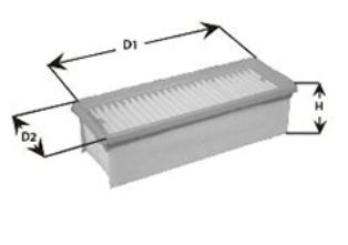 CLEAN FILTER  MA3203 Luftfilter Höhe: 50mm