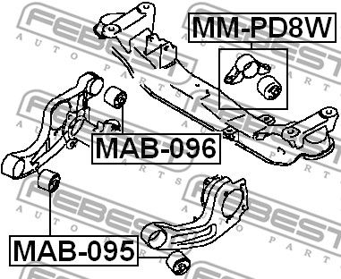 Lagerung, Differential FEBEST MAB-095 Bewertung