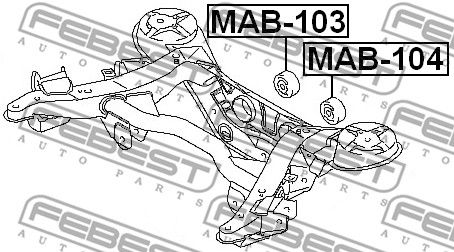 Lagerung, Differential FEBEST MAB-104 Bewertung