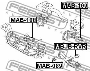 Lagerung, Differential FEBEST MAB-108 Bewertung