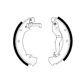 Bremsbackensatz Breite: 56mm mit OEM-Nummer 701609532D