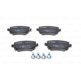 Bremsbelagsatz, Scheibenbremse Breite: 105,5mm, Höhe: 56mm, Dicke/Stärke: 16,7mm mit OEM-Nummer JZW698451D