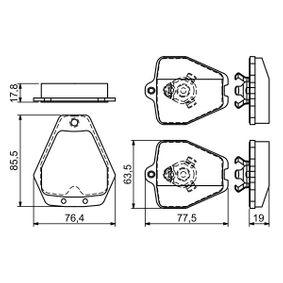 BOSCH Bremsbelagsatz mit Anti-Quietsch-Blech, mit Montageanleitung