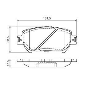 Bremsbelagsatz, Scheibenbremse Breite: 131,5mm, Höhe: 58,5mm, Dicke/Stärke: 18mm mit OEM-Nummer 04465-33250