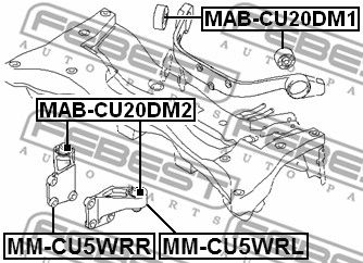Lagerung, Differential FEBEST MM-CU5WRR Bewertung