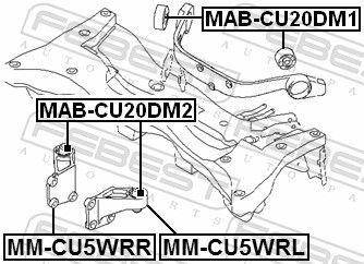 Lagerung, Differential FEBEST MM-CU5WRR Bewertung