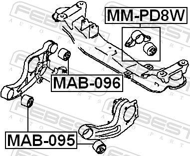 Lagerung, Differential FEBEST MM-PD8W Bewertung