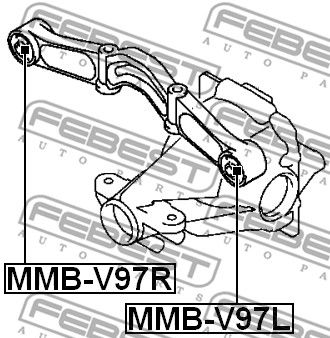Lagerung, Differential FEBEST MMB-V97R Bewertung