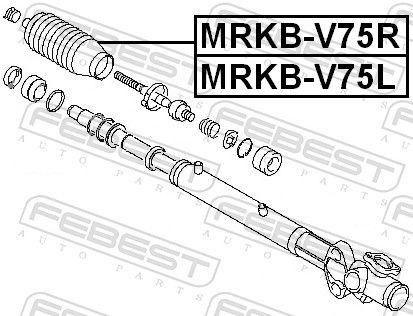 Bellow, steering FEBEST MRKB-V75R rating