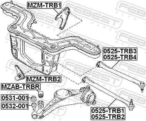 Lagerung, Differential FEBEST MZM-TRB1 Bewertung
