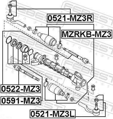 Bellow, steering FEBEST MZRKB-MZ3 rating