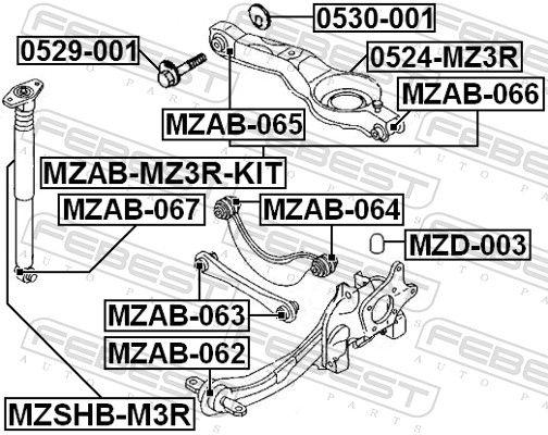 Schutzkappe / Faltenbalg, Stoßdämpfer FEBEST MZSHB-M3R Bewertung