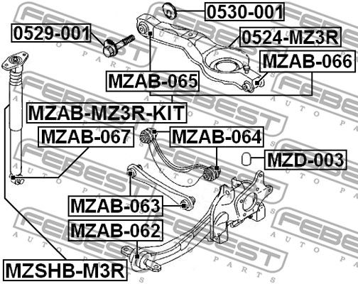 Protective Cap / Bellow, shock absorber FEBEST MZSHB-M3R rating