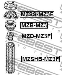 Protective Cap / Bellow, shock absorber FEBEST MZSHB-MZ3F rating