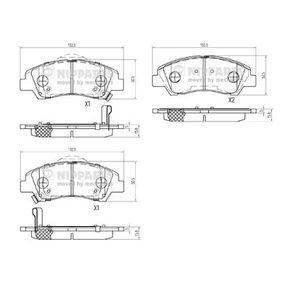 Bremsbelagsatz, Scheibenbremse Höhe: 50,6mm, Dicke/Stärke: 15,8mm mit OEM-Nummer 58101B9A70