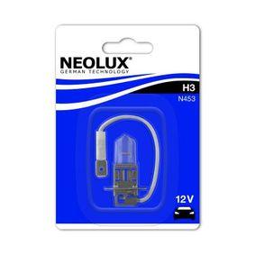 Крушка с нагреваема жичка, фар за дълги светлини H3, 55ват, 12волт N453-01B VW GOLF, PASSAT, POLO
