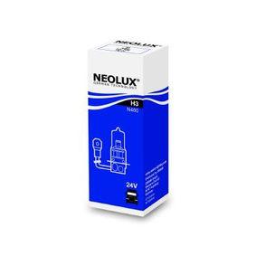 Крушка с нагреваема жичка, фар за дълги светлини H3, 70ват, 24волт N460